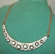 Sensational Hard To Find Signed Trifari White Enamel Necklace Rare And Minty