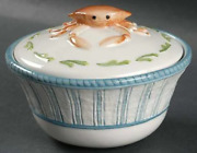 Fitz And Floyd Seaboard Pattern Covered Clam Chowder Bowl .new Other