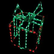 Christmas Decorations Led Gift Box Present Package Outdoor Wireframe Light 3d
