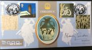 Henry Sandon Tv Antiques Signed 2.5.2000 Art And Craft Fdc Ceramics Wedgewood.