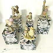 Lot Of 5 Adorable Vintage Enesco Kim Anderson's Pretty As A Picture Figurines