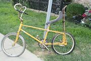 Rare Vintage Western Flyer 1950and039s Bike W Curled Handle Bars 1 Original Tire Nice