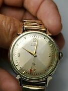 Antique Wind Up Automatic Mensz 10k Gold Heavy Filled Watch Runs Well