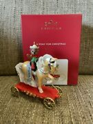 2021 Hallmark A Pony For Christmas 24th In Series Ornament Nib Free Ship In Us