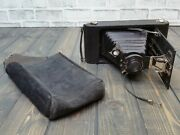 1915 Scout Seneca Trio Folding Camera With Case / Pouch Untested