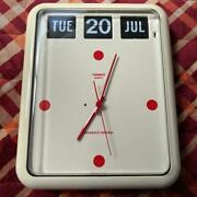[for Parts] Twemco Bq-12 Flip Calender Wall Clock Special Model Red
