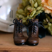 Dark Brown 1/6 Carved Designs Leather Boots For Women Bjd Sd Doll Model