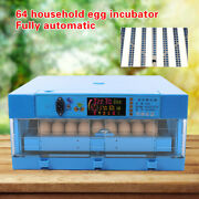 Egg Incubator 64 Eggs Fully Digital Automatic Hatcher For Hatching Chicken Duck