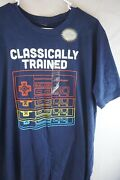 New Nintendo Controller Classically Trained Mens T-shirt Blue Size Large