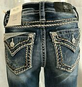 New Miss Me Jeans With Tags M 5014 B 355 Boot Cut Mid-rise Inseam 34