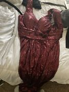 Dress Women Plus Size 20 Red Gown Prom