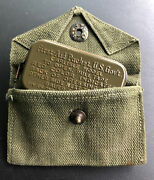 Wwii Ww2 Army First Aid Medical Medic Metal Field Packet Carlisle Bandage Pouch