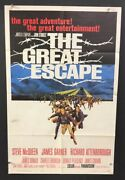 The Great Escape Original Movie Poster Steve Mcqueen 1963 Hollywood Posters