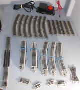 N Scale Train Bachmann E-z Track Lot Of Track Terminal Section Transformer