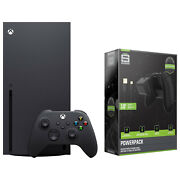 Microsoft Xbox Series X 1tb Console W/ Powerpack Battery And Charge Cable Bundle