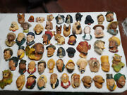 Bossons Chalkware Heads/dogs/birds - Hand-painted Beautiful