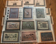 Told In A Garden Lot Of 9 Cross Stitch Patterns Amish Quilts Farm Charts Only