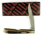 Winchester Easy Open Slim Trapper Knife 1/1000 First Production Run Usa 6305-pn