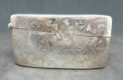 Victorian Solid Silver Card Case Sign From Staff And Friend The Palace 46 G.