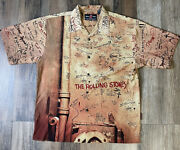 The Rolling Stones Beggars Banquet Vintage Dragonfly Button Up Shirt Size Xxl