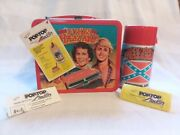 Vintage 1980 Metal The Dukes Of Hazzard Lunch Box And Thermos