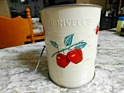 Antique Bromwells Apple Painted Measuring Sifter, 3 Cups, 5 X 4 Inches