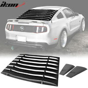 Fits 05-14 Ford Mustang Ikon Style Rear Window Louvers And Side Vent Scoops