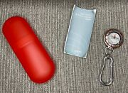 New Target Stores Employee Promo Europa Carabiner Silver Pocket Watch W/ Case