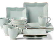 Lenox French Perle Bead Ice Blue 16-piece Dinnerware Set Service For 4 New