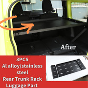 Rear Trunk Rack Luggage Part For Suzuki Jimny 2019+ Al Alloy/stainless Steel 3p