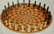 3 Man Chess Three Player Circular Hand Board Strategy Family Game Made In Usa
