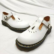 Dr. Doc Martens White T-strap Buckle Mary Janes 8184 Shoes Sz 5 Uk Us 7 Womens