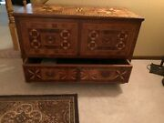 Hand Crafted Early American Marquetry Chest Cabinet