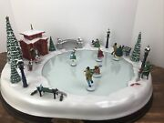 Mr Christmas Holiday Skaters 1995 Musical Animated Victorian Ice Rink Tested