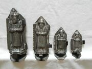 Chocolate Mold/216 French Father Christmasandnbsp Set Of 4 Molds Antique Vintage