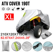 190t Universal Atv Cover Protection Waterproof Uv Rain Dust Resistant Size