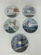 Ps3 Ea Sports Madden Nfl 12, 13,15,16,17 Discs Only - Very Good Lot