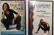 2 Dvd Set Ball Workout - Yamuna Body Rolling And Stop The Clock Miracle Ball