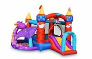 Dragon Quest Inflatable Bounce House, Ball Pit With 30 Colorful Balls