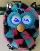 Furby Pink, Blue, And Black Boom Rare 2012 Talking Interactive Toy Tested/works