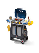 Toy Bbq Grill Set Smoke Sizzle Accessory Play Set Kids Cooking Pretend Play Gift