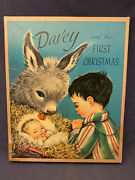 Vintage Davey And The First Christmas W Box Book Donkey Advent Calendar ++ Rare