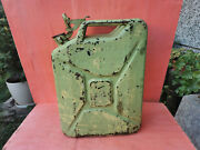 Old Vintage German Gdr Wehrmacht Military Jerry Can Gas Fuel Conteiner Wwii Ww2