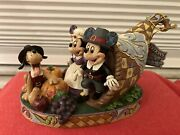 Jim Shore Holiday Harvest 4051981 Rare Mickey And Minnie Mouse Figure