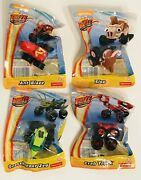 Blaze And The Monster Machines Mini Vehicles Set Of 4 Slop Crab Ant Grasshopper
