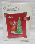 Hallmark 2003 A Boost For Piglet Winnie The Pooh Christmas Ornament