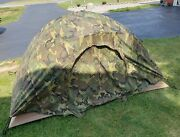 Genuine Usmc Two Man Combat Tent Diamond Brand Complete With Reversible Fly