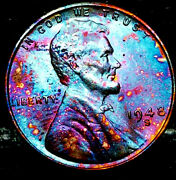 1948 S Lincoln Wheat Penny Cent- Beautiful Toning Superb Gem High Grade 09