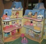 B Fisher Price Loving Family Sweet Sounds Dollhouse Mansion Doll Furniture Works