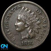 1876 Indian Head Cent Penny -- Make Us An Offer K8143